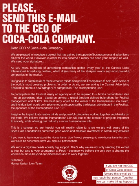 humanitarian-lion-CEO-cocacola